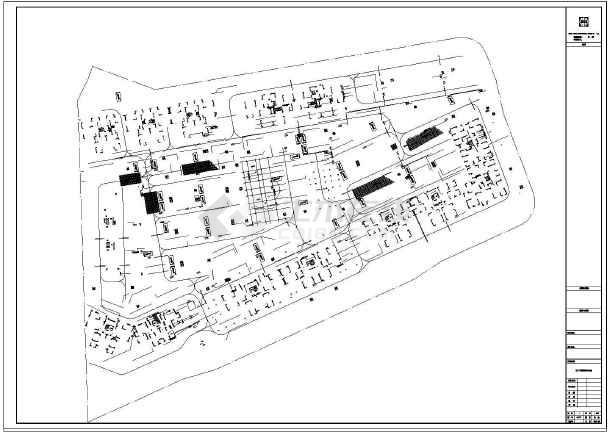 住宅小区车库电气设计平面图