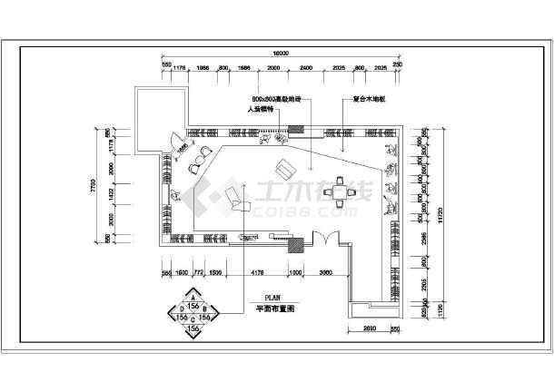 •平面布置图•设计图纸•服装店•立面图&bull