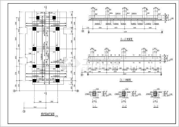 大型工厂10吨链条工业锅炉基础结构设计图