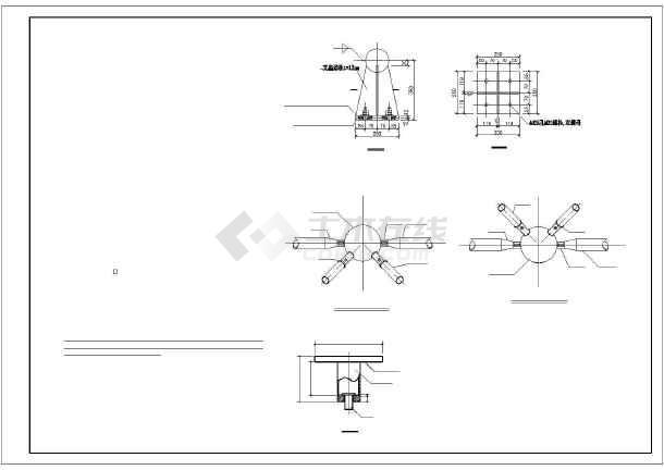 图纸球正方门窗四角锥网架结构代号_cad螺栓图纸数字图纸节点图片