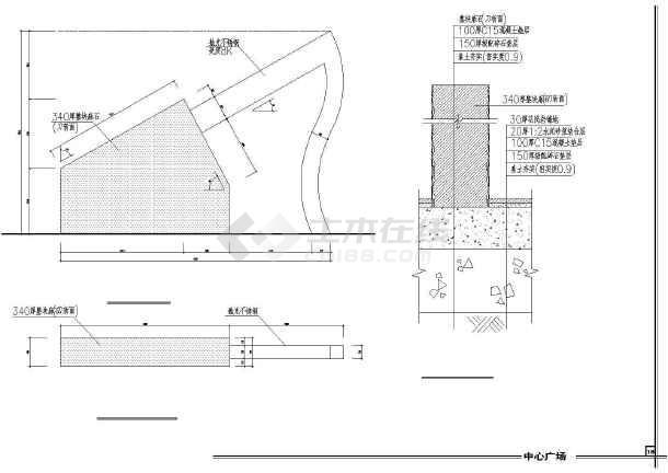 雕塑、休闲、城市广场建筑cad设计图(造型新颖)-图1
