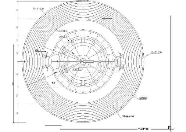 雕塑、休闲、城市广场建筑cad设计图(造型新颖)-图2