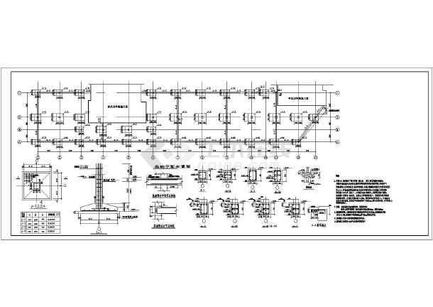 简介:某单层商业网点框架结构设计施工图,包括结构设计总说明,基础