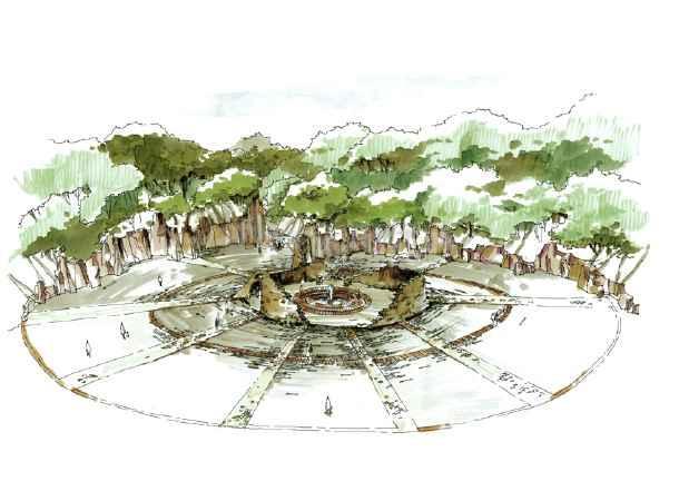 相关专题:园林景观小品手绘图园林手绘图片素材大堂