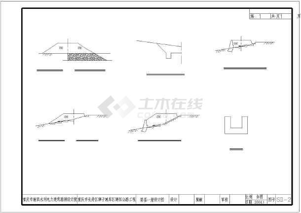 【重庆】长寿区狮子滩库区狮回公路工程初步设计图-图1