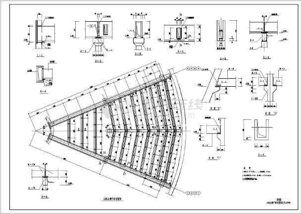 某地电厂双曲线冷却塔结构设计施工图