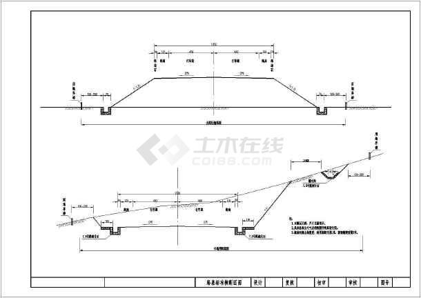 路基标准横断面图_路基标准横断面图