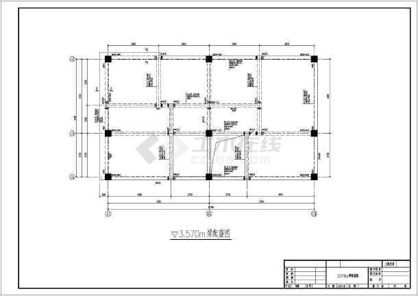 某地区框架结构小别墅设计施工图纸