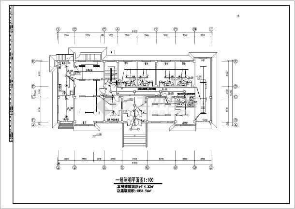 一栋三层的派出所办公楼电气设计施工图