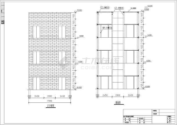 某钢结构观光电梯井建筑设计方案图纸图片