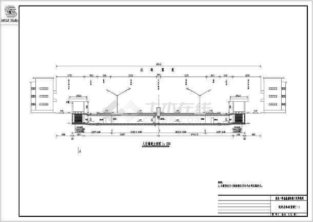 地下过街通道图纸方案设计施工图_cad全套下s图纸estair图片