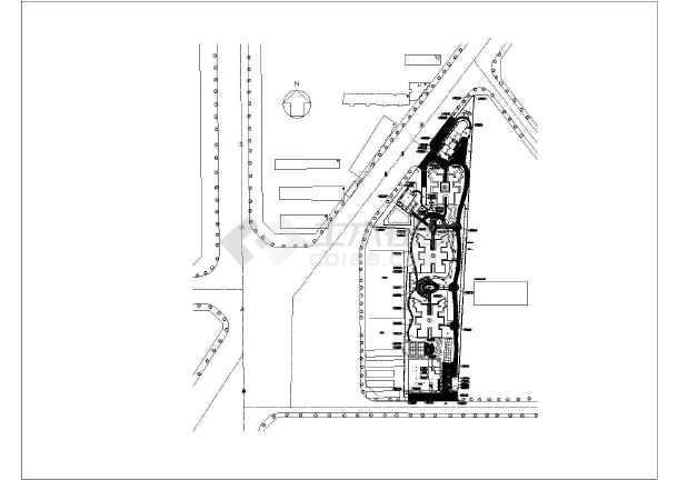 手绘西安古建筑立面图