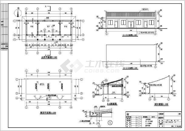 北方某地一层砖木结构住宅建设设计施工图纸