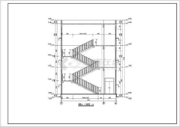 某地三层框架结构行政服务楼建筑设计施工图纸