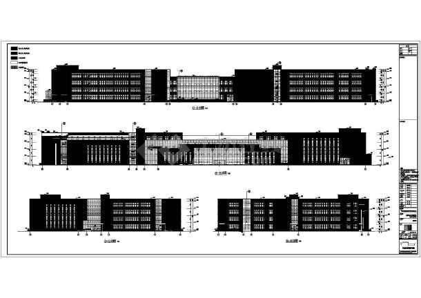 合肥某学校四层教学楼建筑设计施工图