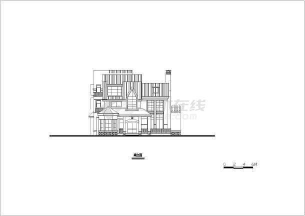 多套中式风格别墅室内装修设计方案(含效果图),图纸内容包括:立面图