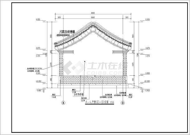 单层活动板房设计图纸