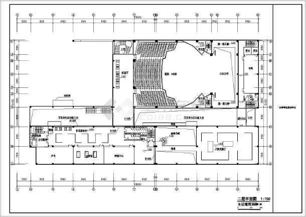 某地十层框架结构大学生活动中心建筑设计方案图纸-图五