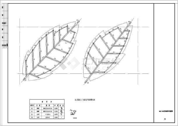 树叶造型景观雨棚结构图