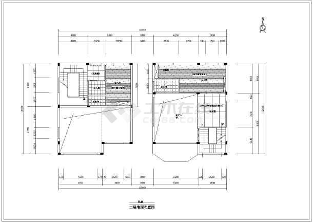 图纸 建筑图纸 别墅图纸 别墅户型图 某地框架结构豪华欧式别墅详细