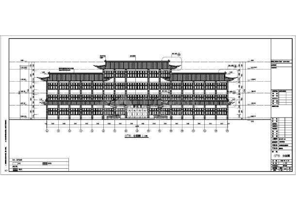 四层框架结构古建中医院国医堂结构施工图(含详细建筑
