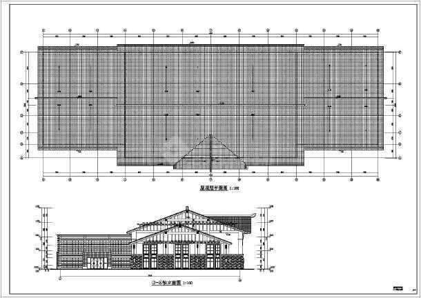 景区游客中心框架结构建筑结构全套施工图-图2