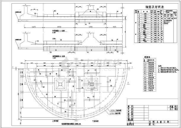 300立方米圆形蓄水池工程施工图图片1