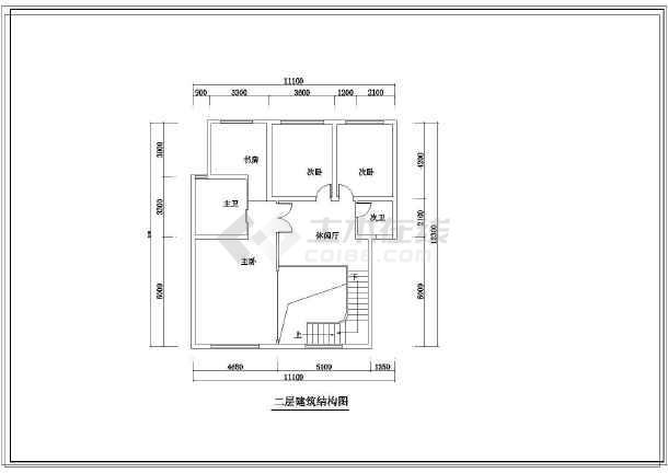 某地住宅小区跃层户型装修设计方案图图片2