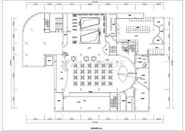 【杭州】某洗浴中心平面建筑设计图