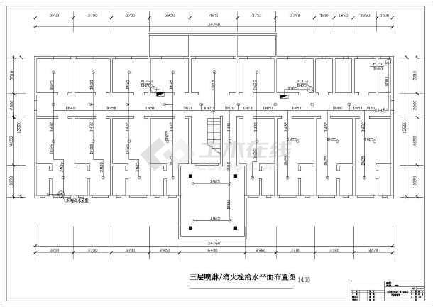 某地区家装建筑报警与喷淋设计施工图深圳做医院设计师图片
