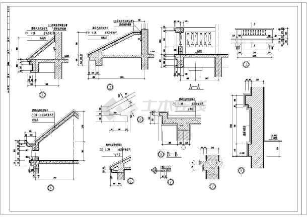慈溪某三层框架别墅建筑,结构,水,电施工图