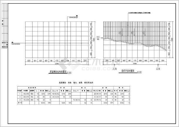 该工程为某地中学主席台雨棚网架结构设计施工图,内容包含设计总