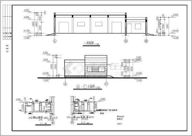 某地结构砖混灯头配电房建筑设计施工图单层v结构图片