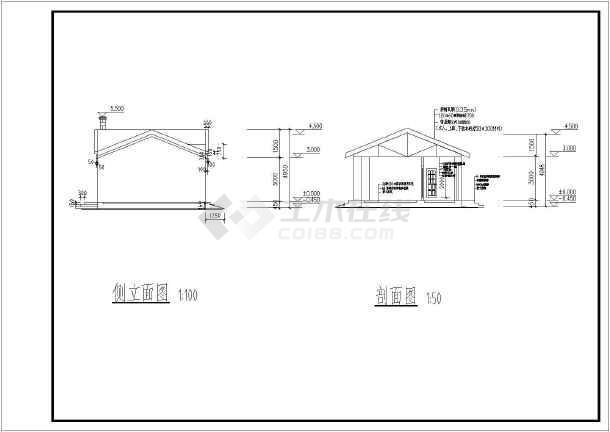 某地农场单层平房建筑设计施工图纸