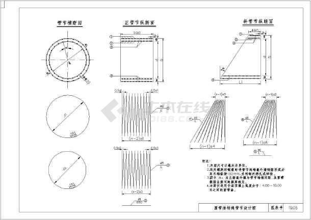 铁道部设计院沪宁高速圆管涵通用图 - 圆管涵图纸下载