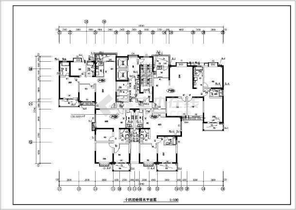 安徽某二十八层住宅楼给排水设计图图片