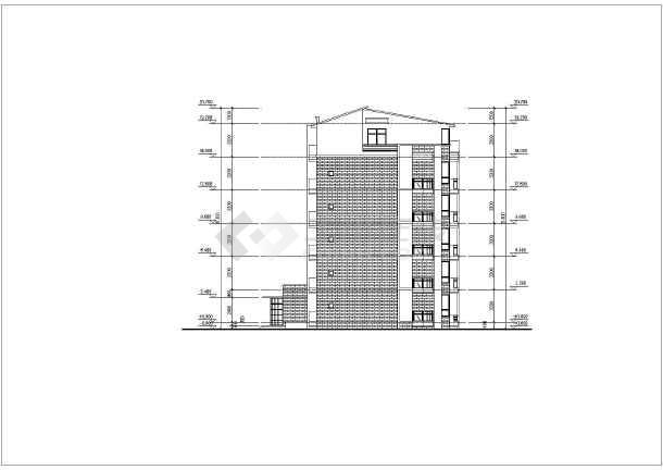 建筑图纸 教育建筑 大学生宿舍设计 上海某地六层砖混结构学生宿舍楼图片