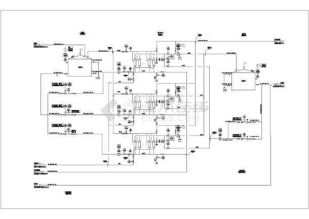 某污水处理厂内高氨氮废水处理设计图