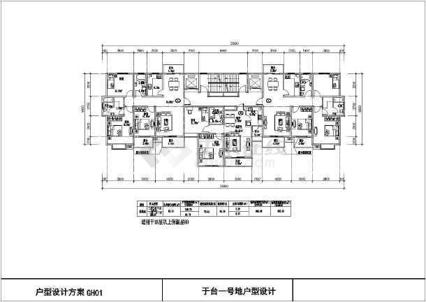 某地区多高层回迁房,廉租房户型平面图大全图片