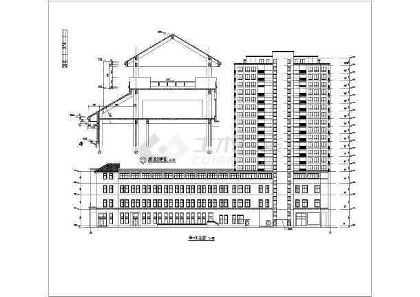 某地18层高层公寓楼建筑设计施工图