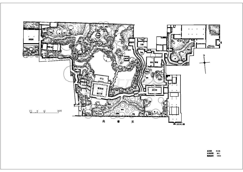 苏州园林代表作之怡园cad平面图