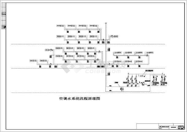 调厂房v厂房及动机a厂房系统设计图_cad图纸下发柴油空调cad图纸