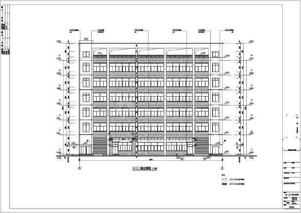 某地6层框架结构厂房建筑设计施工图