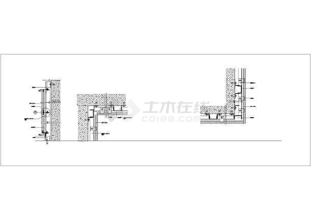 各种图纸干挂类型全套(密缝)节点小桥_cad墙面10m跨度v图纸详图石材的cad图纸图片