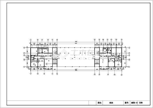 该图纸为学生课程设计,某小区11层住宅楼建筑设计方案,.图片