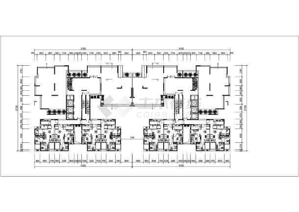 广州市某2梯10户公租房户型平面图图片