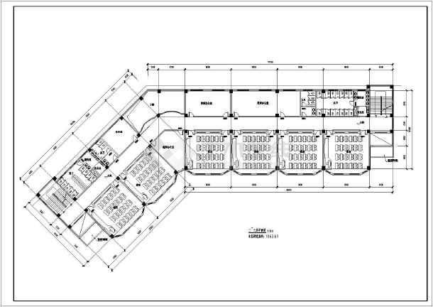 20班四层中学教学楼方案平面图_cad图纸下载cad路虎图片