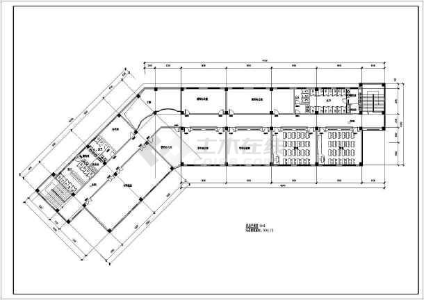 20班四层性能教学楼中学平面图_cad图纸下载cad方案显示图片