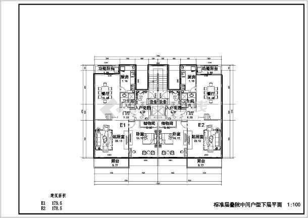 某七层框架结构住宅楼建筑设计方案图纸