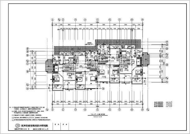 某地三层框架结构联排别墅建筑设计方案图